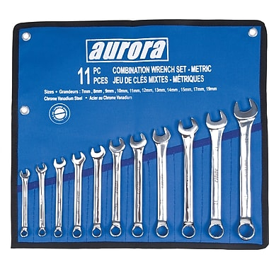 Aurora Tools Combination Wrenche Set, Metric, 11-Piece