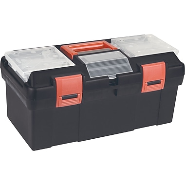Aurora Tools Heavy-Duty Tool Boxes With Inner Tray, 2-Part Boxes, Organizer, 17-1/2