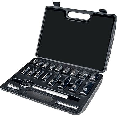 Aurora Tools Drive S.A.E. Socket Set, 20-Piece, 3/8