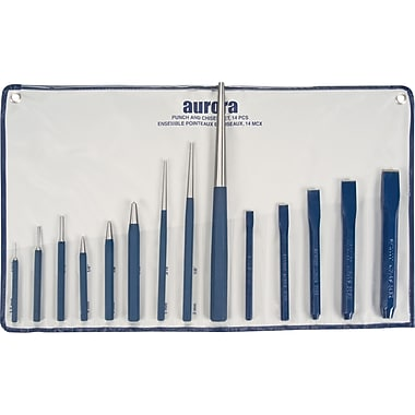 Aurora Tools Punch and Chisel Set, 14-Piece