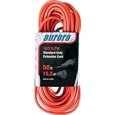 Aurora Tools Indoor/Outdoor Extension Cords, Standard-Duty, 50'