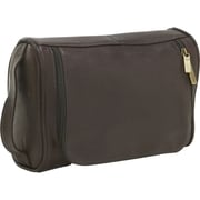Le Donne Leather Toiletry Bag; Caf