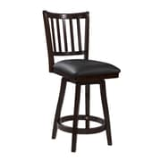 Powell Big and Tall 24'' Swivel Bar Stool with Cushion