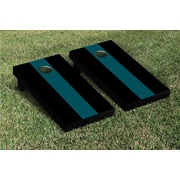 Victory Tailgate Matching No Stripe Version 2 Cornhole Boards Game Set; Midnight Green / Black