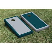 Victory Tailgate Border Alternating Cornhole Boards Game Set; Gray / Midnight Green