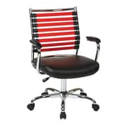 Ave Six Randal Mid-Back Office Chair with Arms; Red and Black
