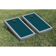 Victory Tailgate Border Matching Version 1 Cornhole Boards Game Set; Gray / Midnight Green