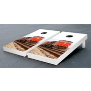 Victory Tailgate Red Train Themed Cornhole Game Set