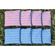 Victory Tailgate Corn Filled Cornhole Bag Set; Light Blue / Pink