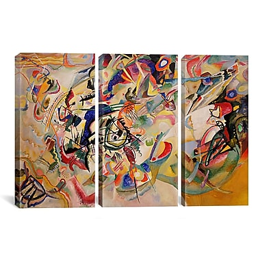 iCanvas Composition VII by Wassily Kandinsky 3 Piece Painting Print on Wrapped Canvas Set