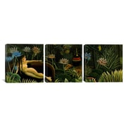 iCanvas Henri Rousseau The Dream 3 Piece on Wrapped Canvas Set; 30'' H x 90'' W x 1.5'' D