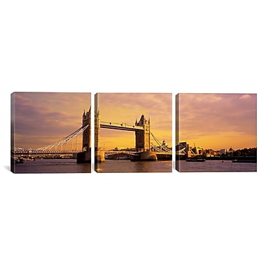 iCanvas Windmills Netherlands 3 Piece Photographic Print on Wrapped Canvas Set