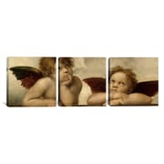 iCanvas Raphael The Two Angels 3 Piece on Wrapped Canvas Set; 24'' H x 72'' W x 1.5'' D