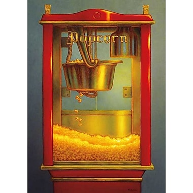 Printfinders Popcorn II by TR Colletta Graphic Art on Wrapped Canvas; 35'' H x 25'' W x 1'' D