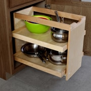 The Organized Cabinet Cabinet Pull Out Shelving Organizer w/2 Full Trays; 20'' H x 17'' W x 23'' D