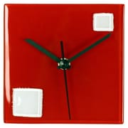 River City Clocks Square Glass Wall Clock