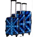CalPak Union Jack 3 Piece Luggage Set; Blue Marina