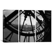 iCanvas Photography Clock Tower In Paris 3 Piece on Wrapped Canvas Set; 60'' H x 90'' W x 1.5'' D