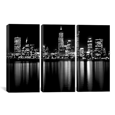 iCanvas Downtown City 3 Piece Photographic Print on Wrapped Canvas Set; 40'' H x 60'' W x 0.75'' D