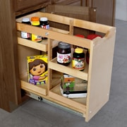 The Organized Cabinet Cabinet Pull Out Shelving Organizer w/4 Half Trays; 20'' H x 11'' W x 23'' D