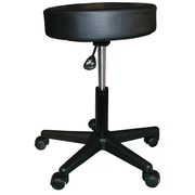 CustomCraftworks Height Adjustable Rolling Stool; Chocolate