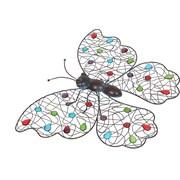 La Hacienda Beaded Butterfly Wall Art in Multi Color