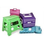 Home Basics Large Folding Stool; Purple