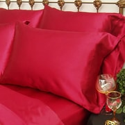 Scent-Sation Charmeuse Satin King Pillow Case (Set of 2); Red