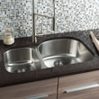 Hahn Classic Chef Series 32.38'' x 20.5'' 30/70 Double Bowl Kitchen Sink