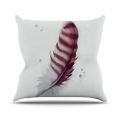 KESS InHouse The Feather Throw Pillow; 18'' H x 18'' W