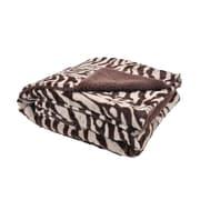Sleeping Partners 2 Plush Zebra Print Throw