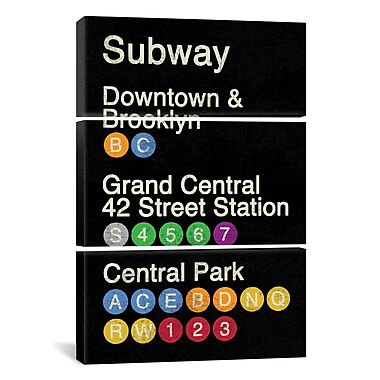 iCanvas Erin Clark New York City 3 Piece on Wrapped Canvas Set; 90'' H x 60'' W x 1.5'' D