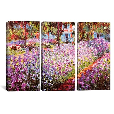 iCanvas Claude Monet Jardin De Giverny 3 Piece on Wrapped Canvas Set; 60'' H x 90'' W x 1.5'' D