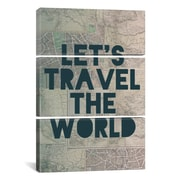 iCanvas Leah Flores Travel the World 3 Piece on Wrapped Canvas Set; 60'' H x 40'' W x 1.5'' D