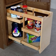 The Organized Cabinet Cabinet Pull Out Shelving Organizer w/4 Half Trays; 20'' H x 14'' W x 23'' D