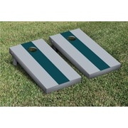 Victory Tailgate Matching No Stripe Version 1 Cornhole Boards Game Set; Gray / Midnight Green