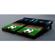 Victory Tailgate Soccer Field Goal Cornhole Game Set