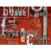 TAF DECOR Typoart 18 Red Area Rug; 4'3'' x 5'10''