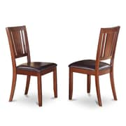 WOIM Dudley Side Chair (Set of 2); Mahogany