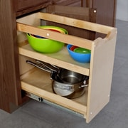 The Organized Cabinet Cabinet Pull Out Shelving Organizer w/2 Full Trays; 20'' H x 11'' W x 23'' D