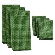 Design Imports 6 Piece Heavyweight Dish Towel & Dish Cloth Set; Vineyard Green