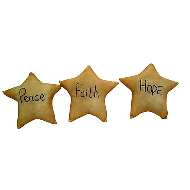 Craft Outlet ''Hope, Faith, Peace'' Star (Set of 12)