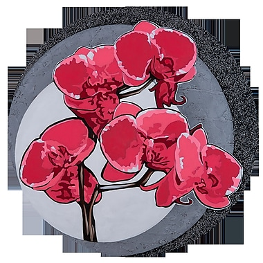 TAF DECOR Hot Orchids 2 Graphic Art; 36'' (Diameter)
