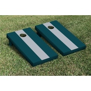 Victory Tailgate Matching No Stripe Version 2 Cornhole Boards Game Set; Gray / Midnight Green