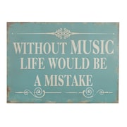 Cheungs Without Music Wooden Wall Decor