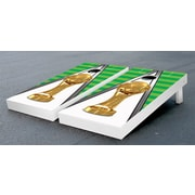 Victory Tailgate Trophy Soccer Cornhole Game Set