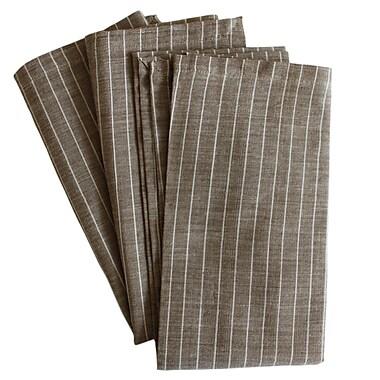 Sustainable Threads Taupe Napkin (Set of 4); Grace