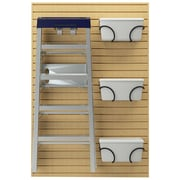 Flow Wall Ladder Hook and Bin Bracket Combo; Maple