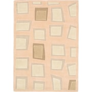 ECARPETGALLERY Elegance Pink Abstract Area Rug; 79'' x 55''
