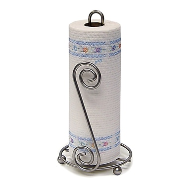 Spectrum Diversified Scroll Paper Towel Holder; Satin Nickel